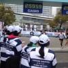 横浜マラソン2015 フィニッシュ地点 サブスリーの瞬間の歓喜!